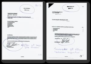 Förfalskad namnteckning! Detta är ett av många, många dokument som finns.